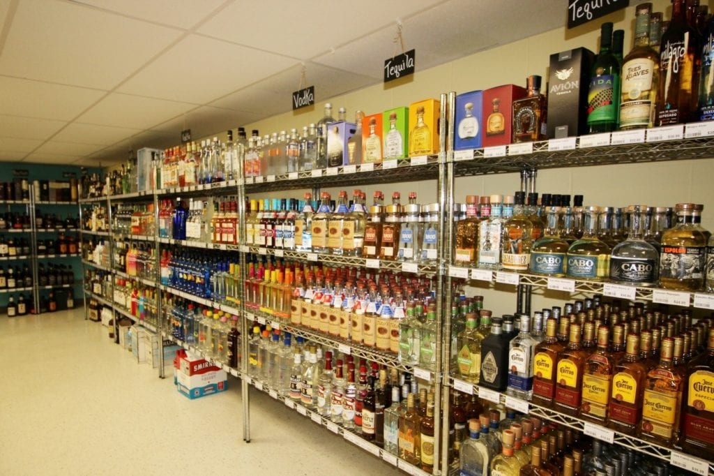The varied spirits at Bethany Beach Beverage Company, including vodka, gin, tequila and more.